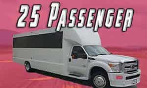 Clickable image of 25 Passenger Party Bus for San Diego Party Bus vehicle page for events by San Diego Hotlimos