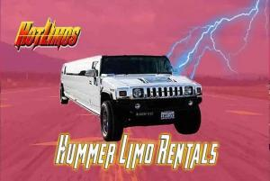 Image of outside of 18 passenger Hummer limo for San Diego Hotlimos