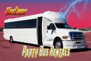 Clickable image of 50 Passenger Party Bus for San Diego Party Bus vehicle page for events by San Diego Hotlimos