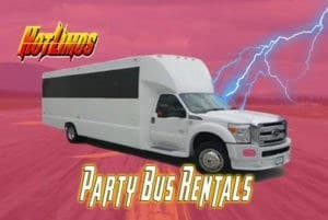 Image of 25 Passenger Party Bus for San Diego Party Bus events by San Diego Hotlimos