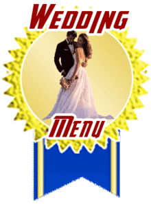 clickable image wedding medal that leads to San Diego Hotlimos wedding menu